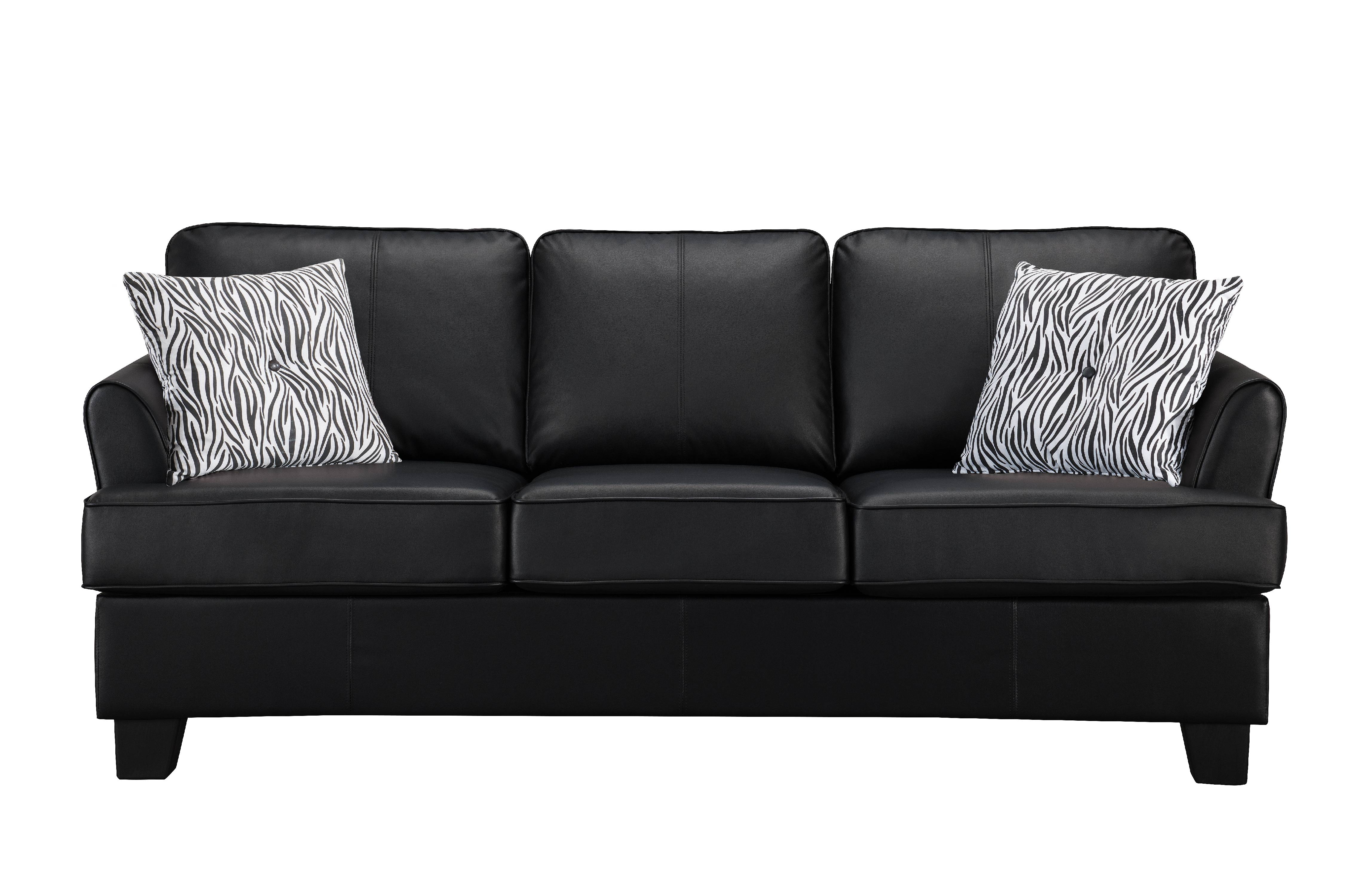 Chantal Black Faux Leather Queen Size Hide A Bed Sofa Sleeper
