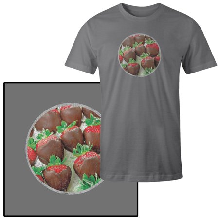 Mens Chocolate Covered Strawberries Food For Valentines T Shirt