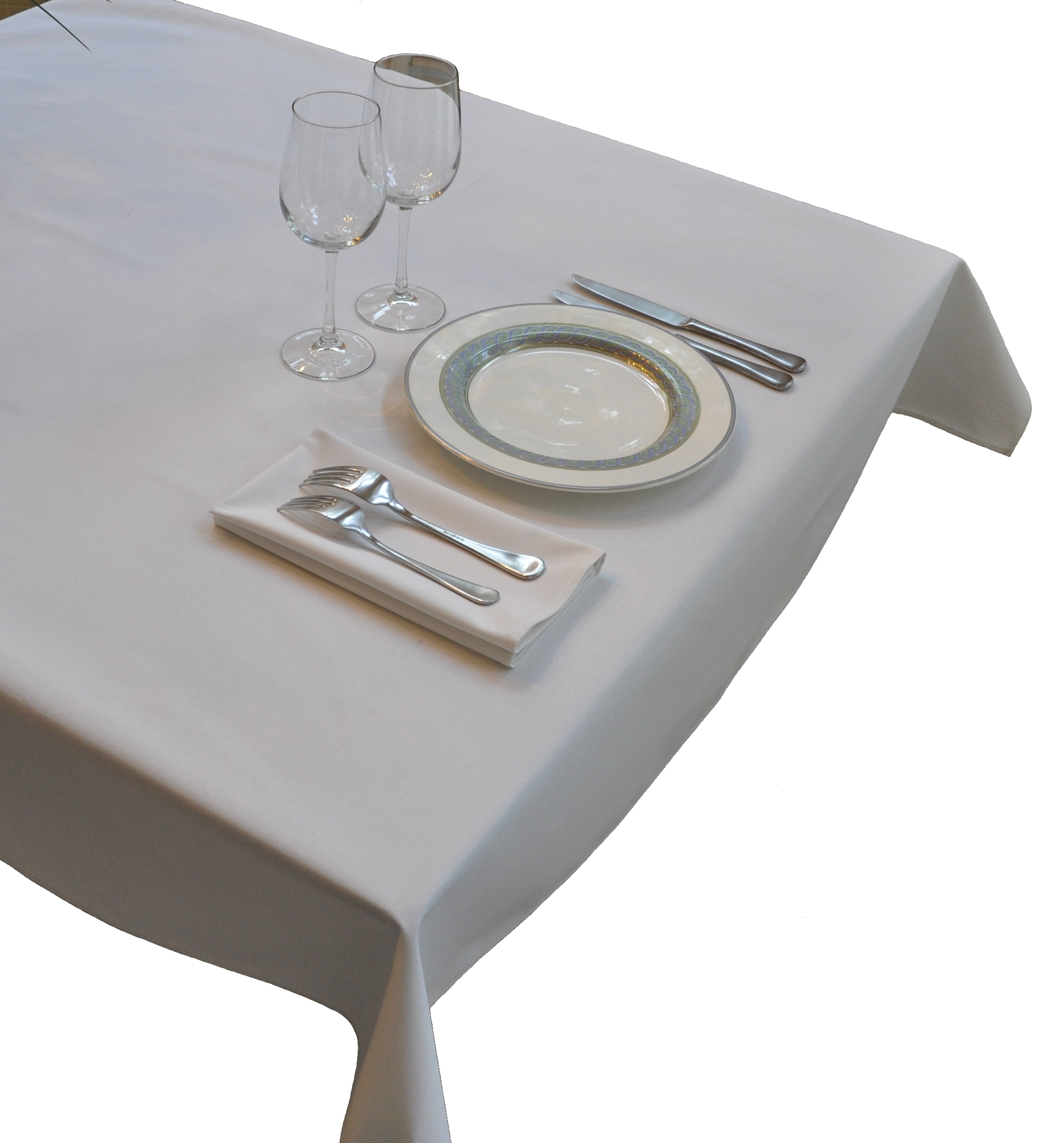 Nouvelle Legende® Tablecloth - Commercial Grade  52 in. by 52 in. White