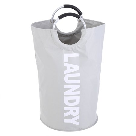 Herwey Oxford Foldable Laundry Clothes Storage Basket with Alloy Handle Home Organizer Washing Bag - image 4 of 7
