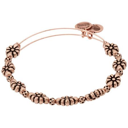 Alex And Ani Rose Gold Blossom Flower Bangle Bracelet A18BLMRAR