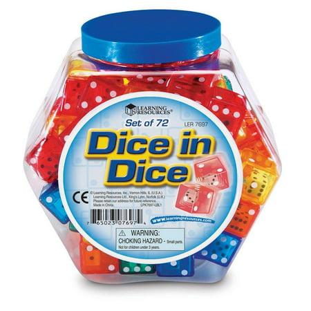 Dice In Dice Bucket Set Of 72 - image 2 of 2
