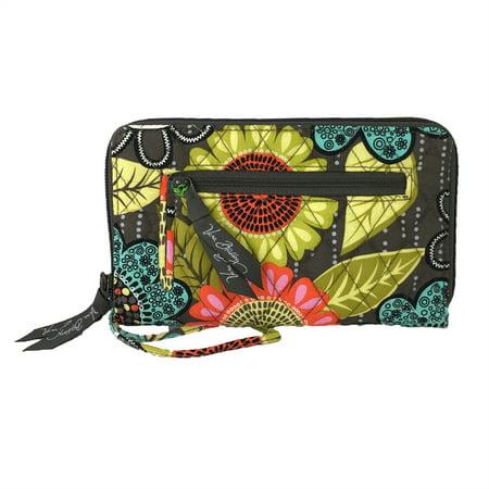 Vera Bradley Zip Around Wallet Wristet  Flower Shower