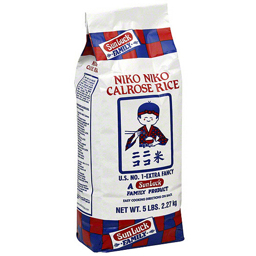 Niko Niko Calrose Rice, 5 lb (Pack of 8)