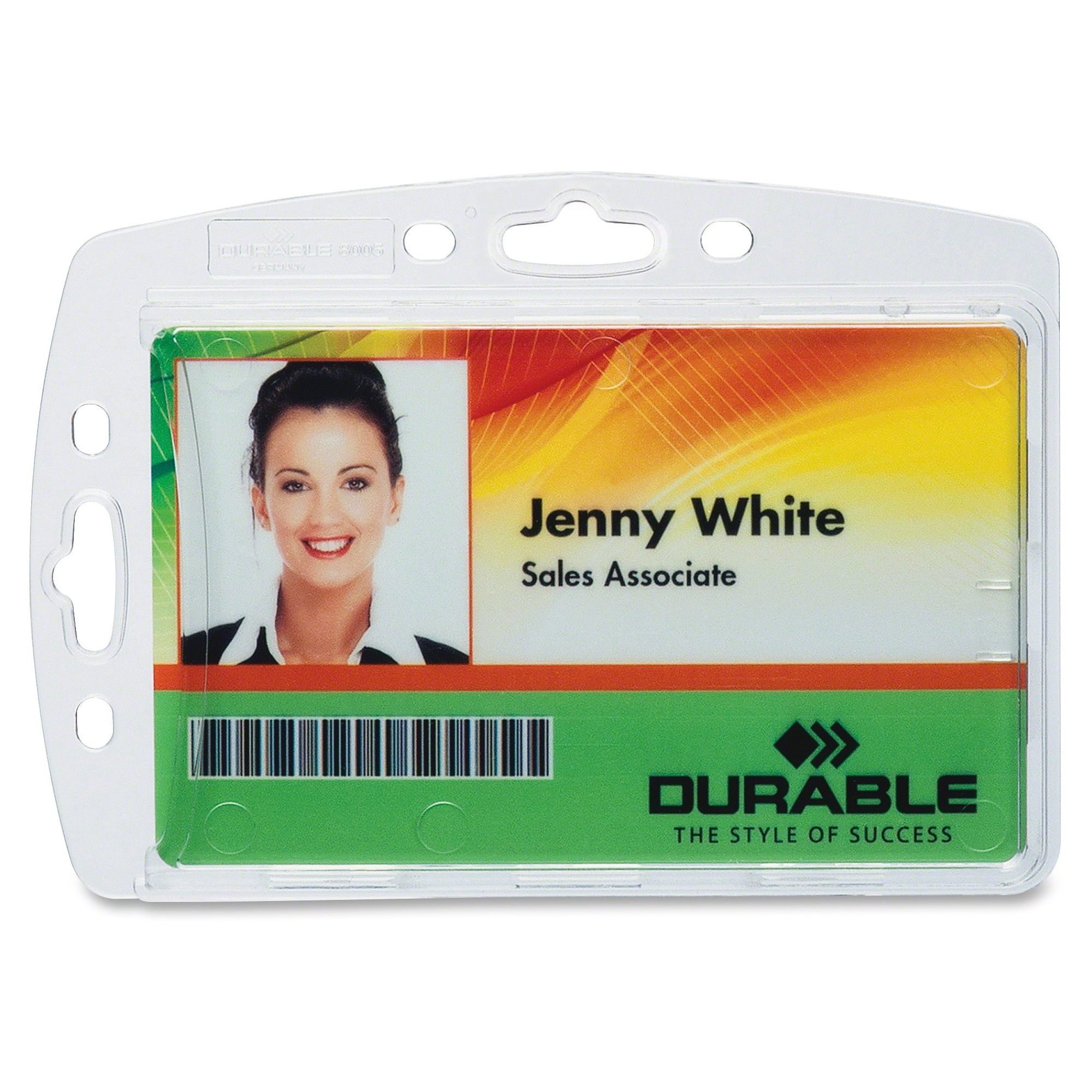 Durable 8005/8012/8268 Replacemt Id Card Holders - Horizontal, Vertical - Acrylic - 10 / Box - Clear (dbl-890519)