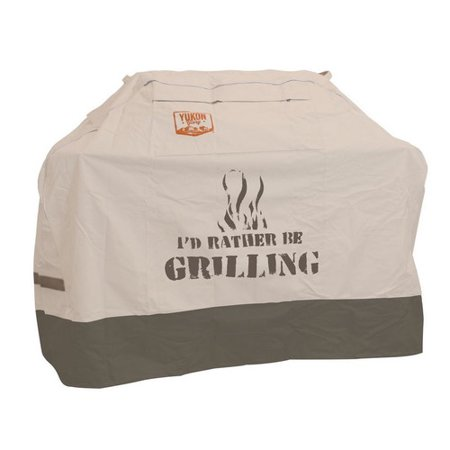Yukon Glory 8251 - Small - Universal Cover with Dual Secure Features - For Grills Up To 58 Inches Wide - I'D RATHER BE GRILLING ()