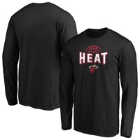 Men's Fanatics Branded Black Miami Heat Clamp Down Long Sleeve T-Shirt