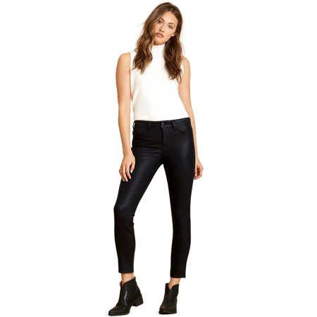 Coated Black Jeans For Women | Leather Look, Cotton Comfort | Amazing Denim Fabric Will Stretch But Regain Shape