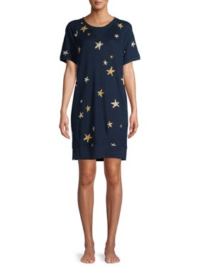 Secret Treasures Women's and Women's Plus Short Sleeve Pajama Lounger With Pockets