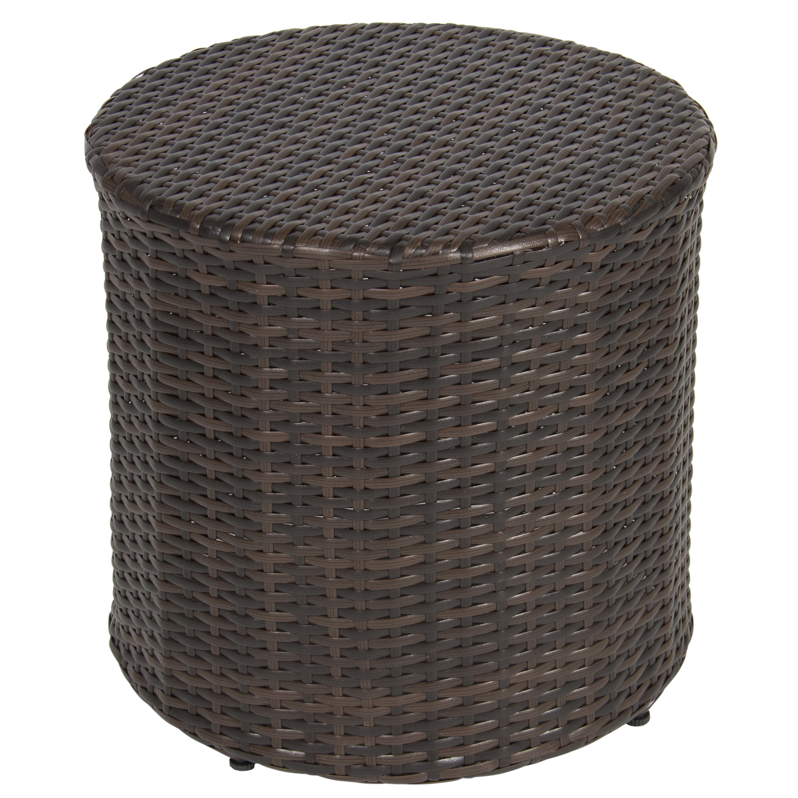 Outdoor Patio Furniture With Storage.Best Choice Products Outdoor Round Wicker Rattan Barrel Side Table Patio Furniture W Storage Steel Frame For Garden Backyard Porch Pool Brown