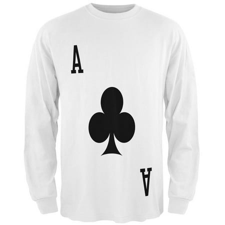 Halloween Ace of Clubs Card Soldier Costume All Over Mens Long Sleeve T Shirt (Clubbing London Halloween)