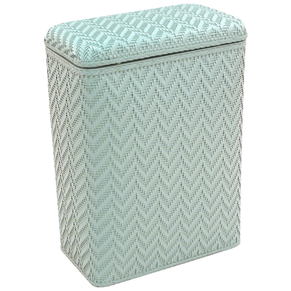 Elegante Collection Decorator Color Wicker Hamper, Herbal Green