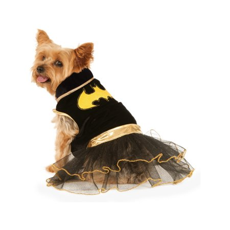 Classic Black Batgirl DC Comics Superhero Tutu Dress Pet Dog Costume