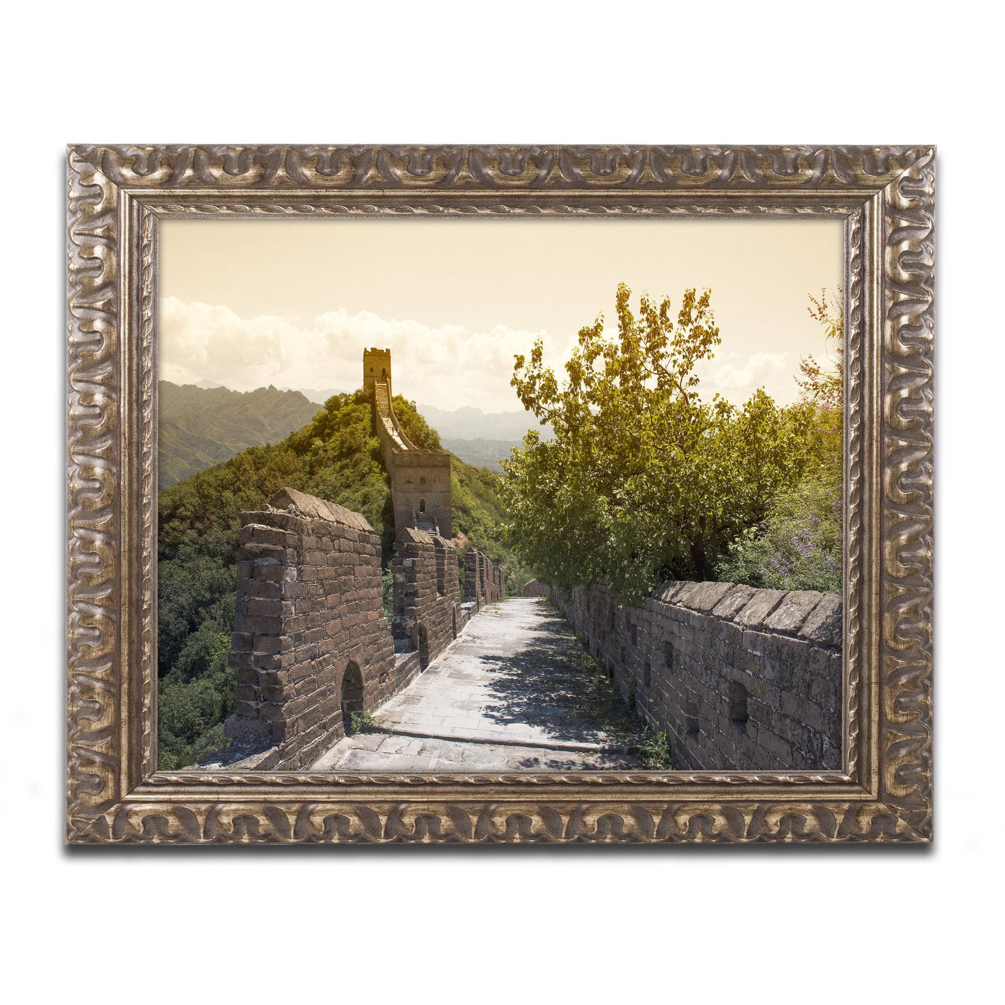 "Trademark Fine Art ""Great Wall III"" Canvas Art by Philippe Hugonnard, Gold Ornate Frame"
