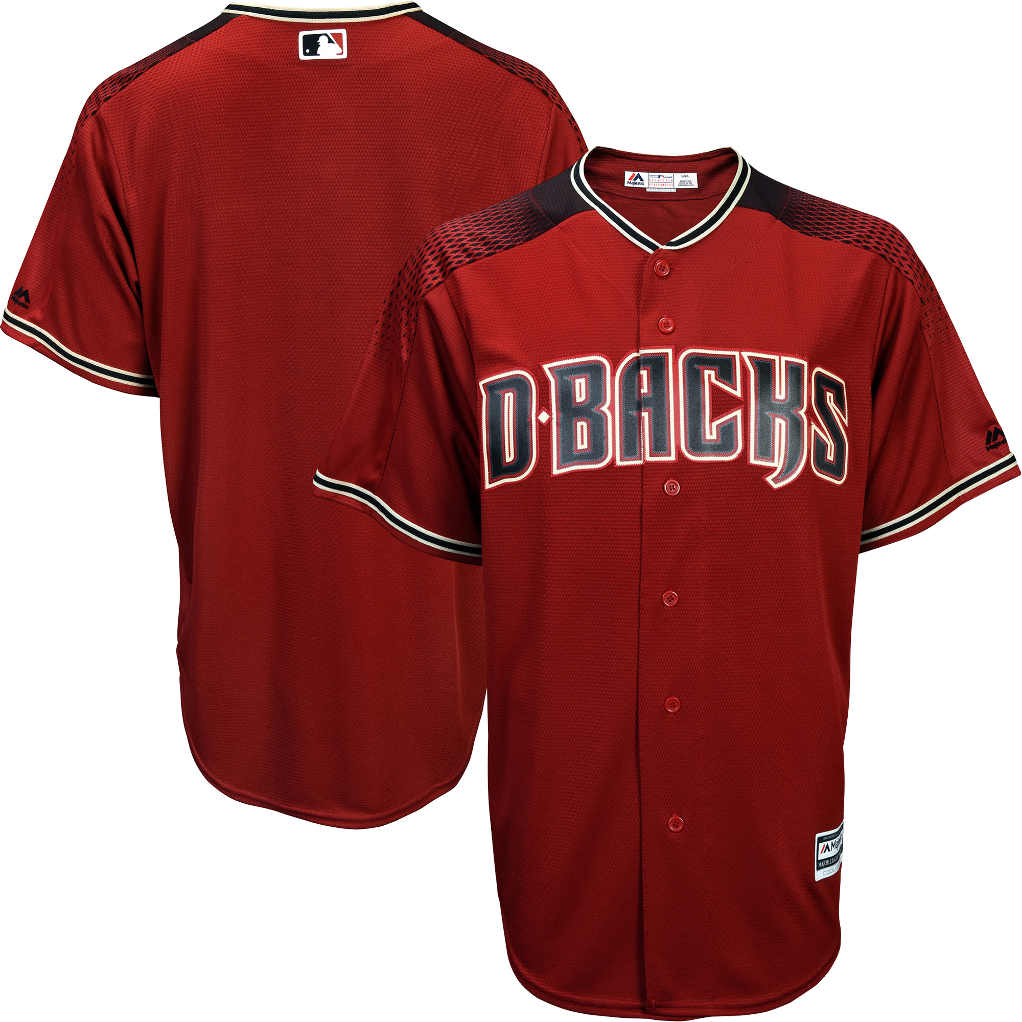 Arizona Diamondbacks Majestic Official Cool Base Jersey - Sedona Red/Black