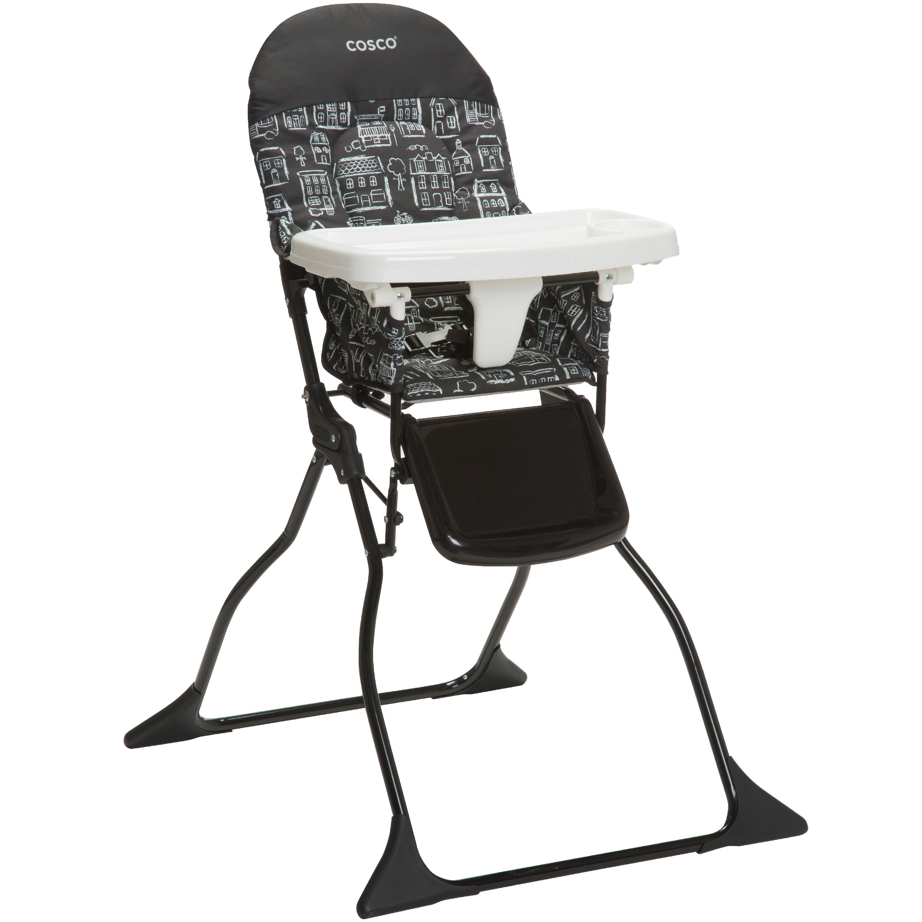 Cosco Simple Fold™ Full Size High Chair with Adjustable Tray, Mapleton