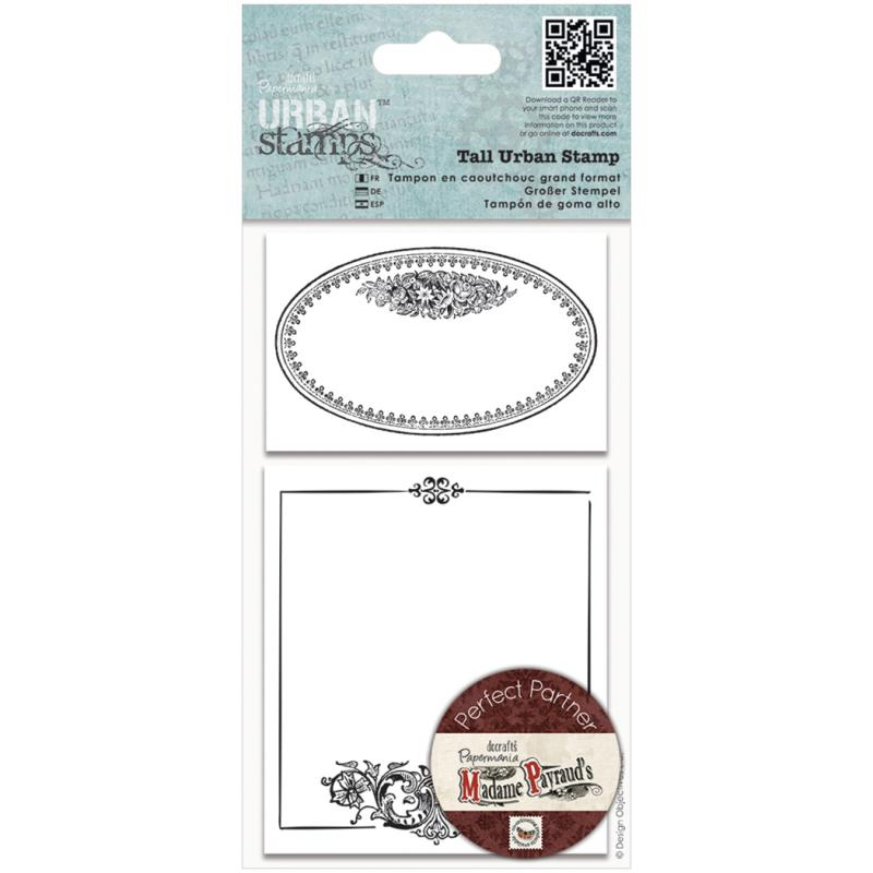 Papermania Madame Payraud Tall Urban Stamps-oval Frame