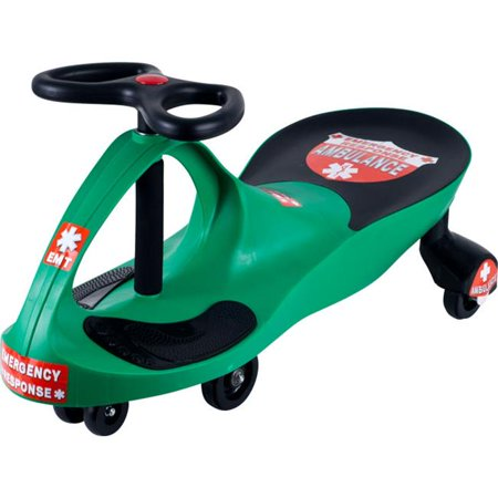 Lil' Rider Green Responder Ambulance Foot-to-Floor Wiggle Car Ride-On ()