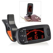Insten LCD Clip-On Guitar Chords Bass Violin Ukulele Chromatic Electronic Tuner Tuning