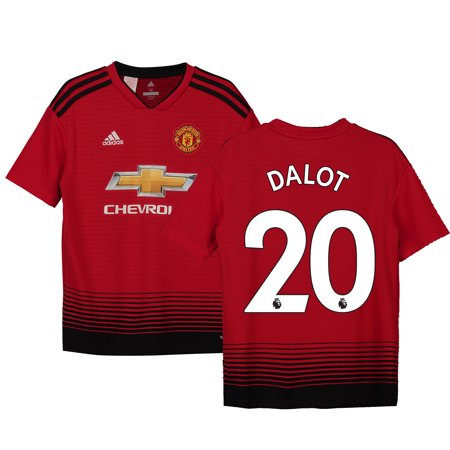 Diogo Dalot Manchester United Fanatics Branded Youth 18/19 Home Replica Jersey - Red 2011 Manchester United Jersey