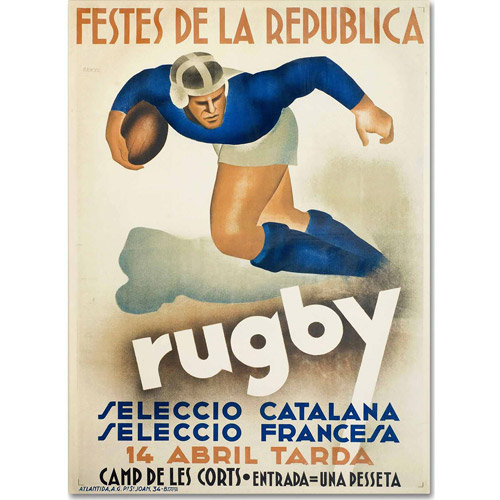 "Trademark Fine Art ""Rugby"" Canvas Art by Vintage Apple Collection"