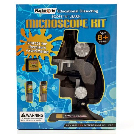 Playsmarte Kids LED Microscope Kit 100X-400X - Kids Microscope