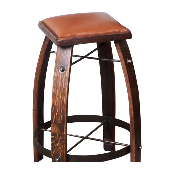 2 Day Designs Reclaimed 28 In Stave Bar Stool With