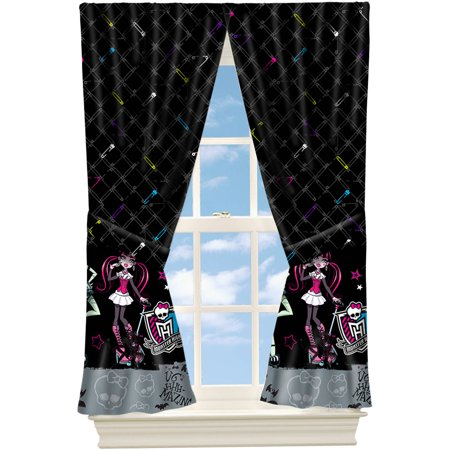 Monster High Pins and Needles Girls Bedroom Curtain Panel, 63