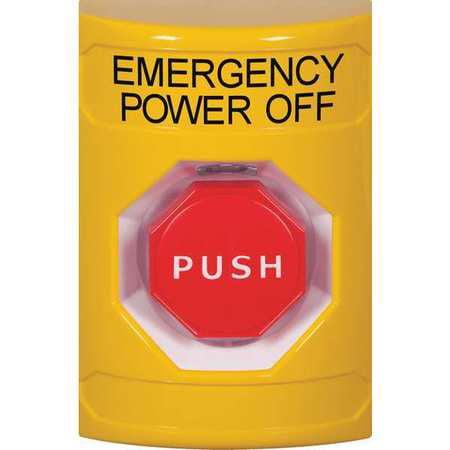 Emergency Power Off Push Button,Yellow SAFETY TECHNOLOGY INTERNATIONAL SS2208PO-EN