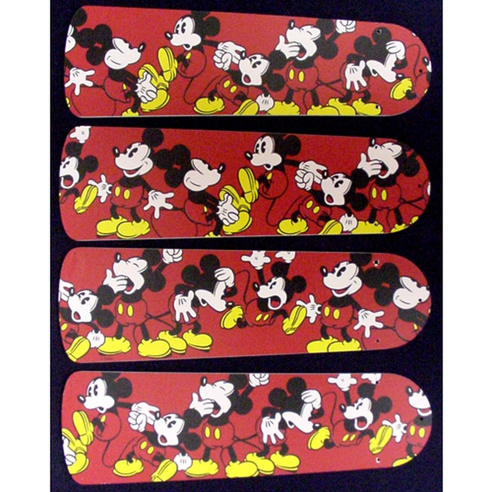 Ceiling Fan Designers Red Mickey Mouse Custom Designer 42...