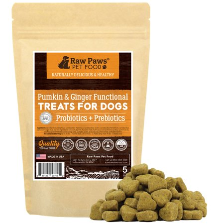 Eager Paws Probiotics for Dogs with Prebiotics Soft Chews, Pumpkin & Ginger, 5-ounce Functional Treats - 2 Billion CFU's - Supports Digestive Health - Diarrhea Relief - Made in USA
