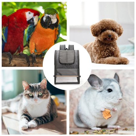 Bird Carrier Bird Travel Cage Backpack Folding With Perch Dog Backpack Carrier For Pet Parrot Cat Rabbit Walmart Canada