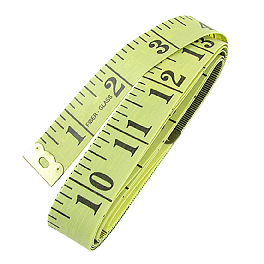 "Unique Bargains Unique Bargains Tailor Yellow Black Flex Tape Measure Cloth Ruler 60"" 150cm"