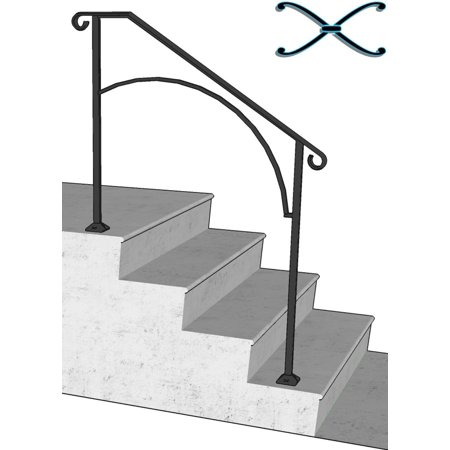 Iron X Handrail Arch #3