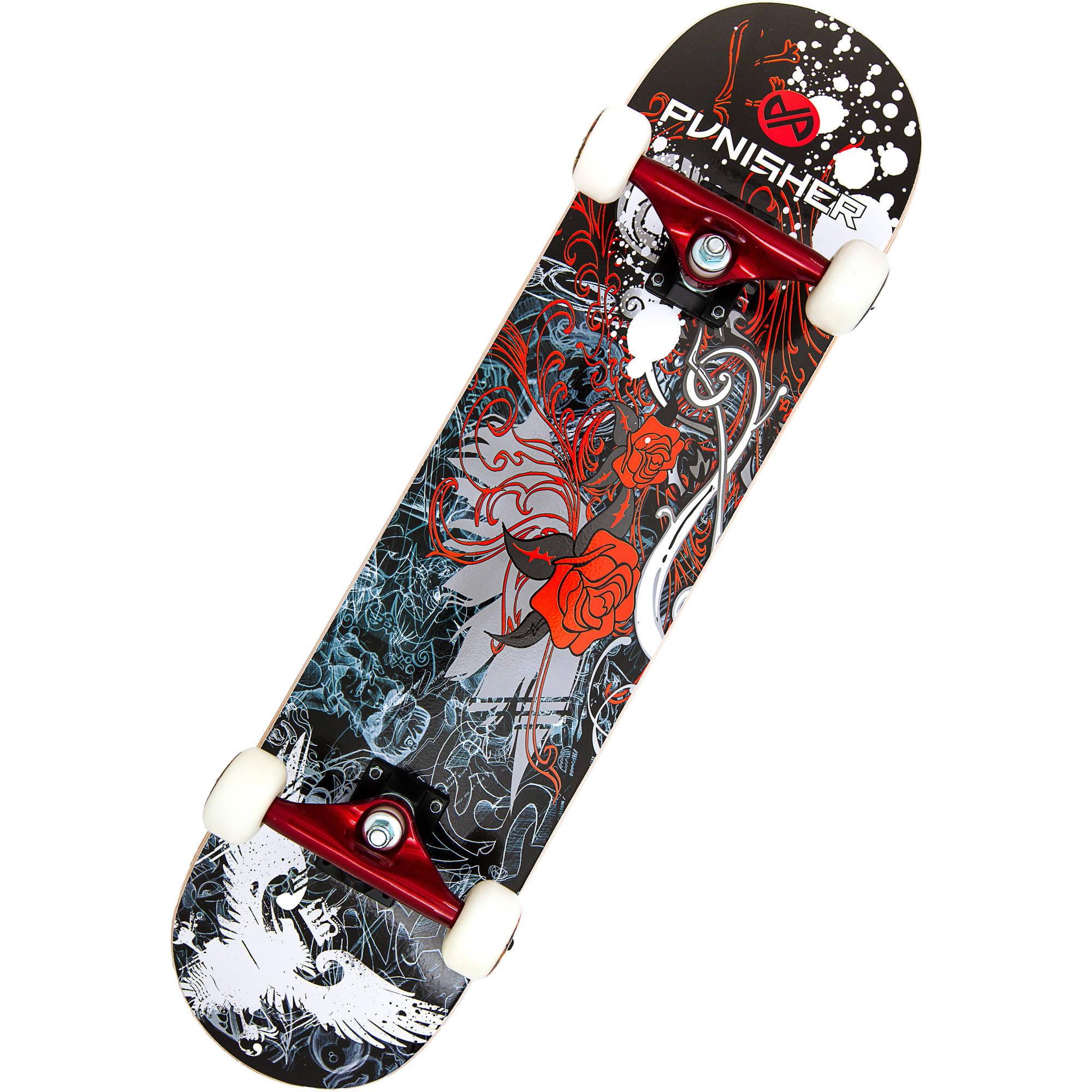 """Punisher Skateboards Rose 31.5"""" ABEC-7 Complete Skateboard by Generic"""