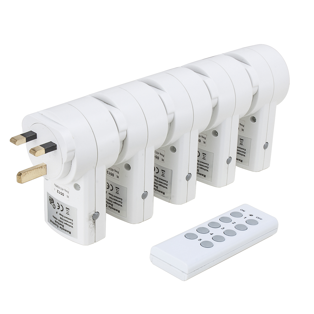 5Pcs AC230V 10A UK Plug Wireless Remote Control UK Socket Outlet w 1 Transmitter - image 4 de 7