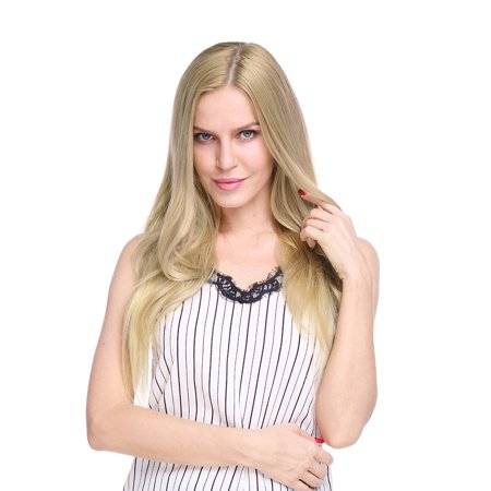 S-noilite 100% Remy Human Hair Silk Base Top Hairpieces Clip in Topper For Women Crown Top Piece Short