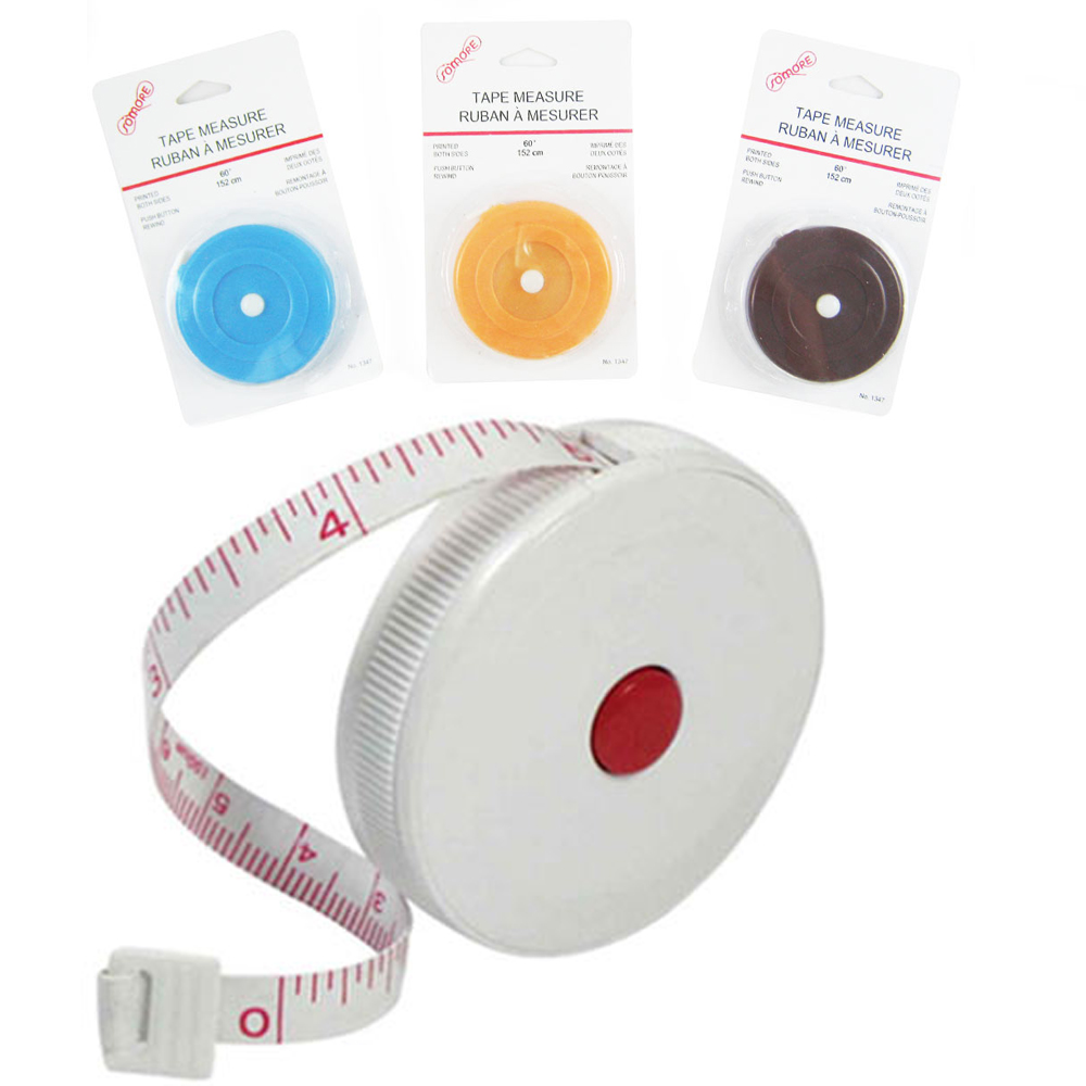 "1Pc Measuring Tape Retract Ruler 60"" English Metric Tool Measure Sewing Tailor !"
