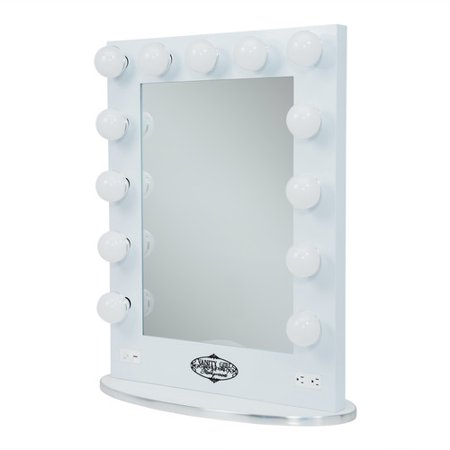 Vanity Girl Lighted Mirror : Vanity Girl Hollywood Broadway Lighted Vanity Mirror - White - Walmart.com
