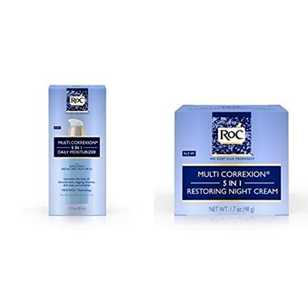 Roc Multi Correxion 5 In 1 Daily Anti-Aging Moisturizer with Restoring Facial Night Cream