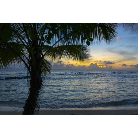 Sunset at Savannah Beach, Christ Church, Barbados, West Indies, Caribbean, Central America Print Wall Art By Frank Fell
