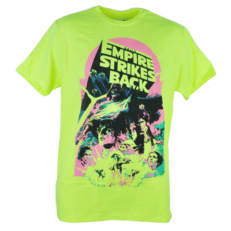 The Empire Strikes Back Darth Vader Cast Neon Yellow Tshirt Tee XSmall