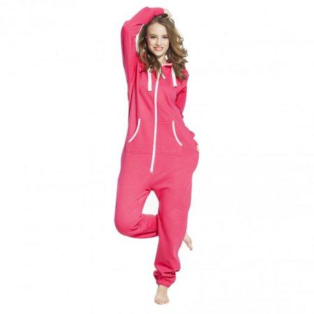 754781d85a8c Skylinewears - SkylineWears Women s Ladies Onesie Hoodie Jumpsuit Playsuit  Shock Pink XL - Walmart.com