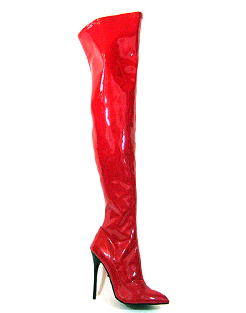 SKY-31, 5'' Thigh High Stretch Patent Boot