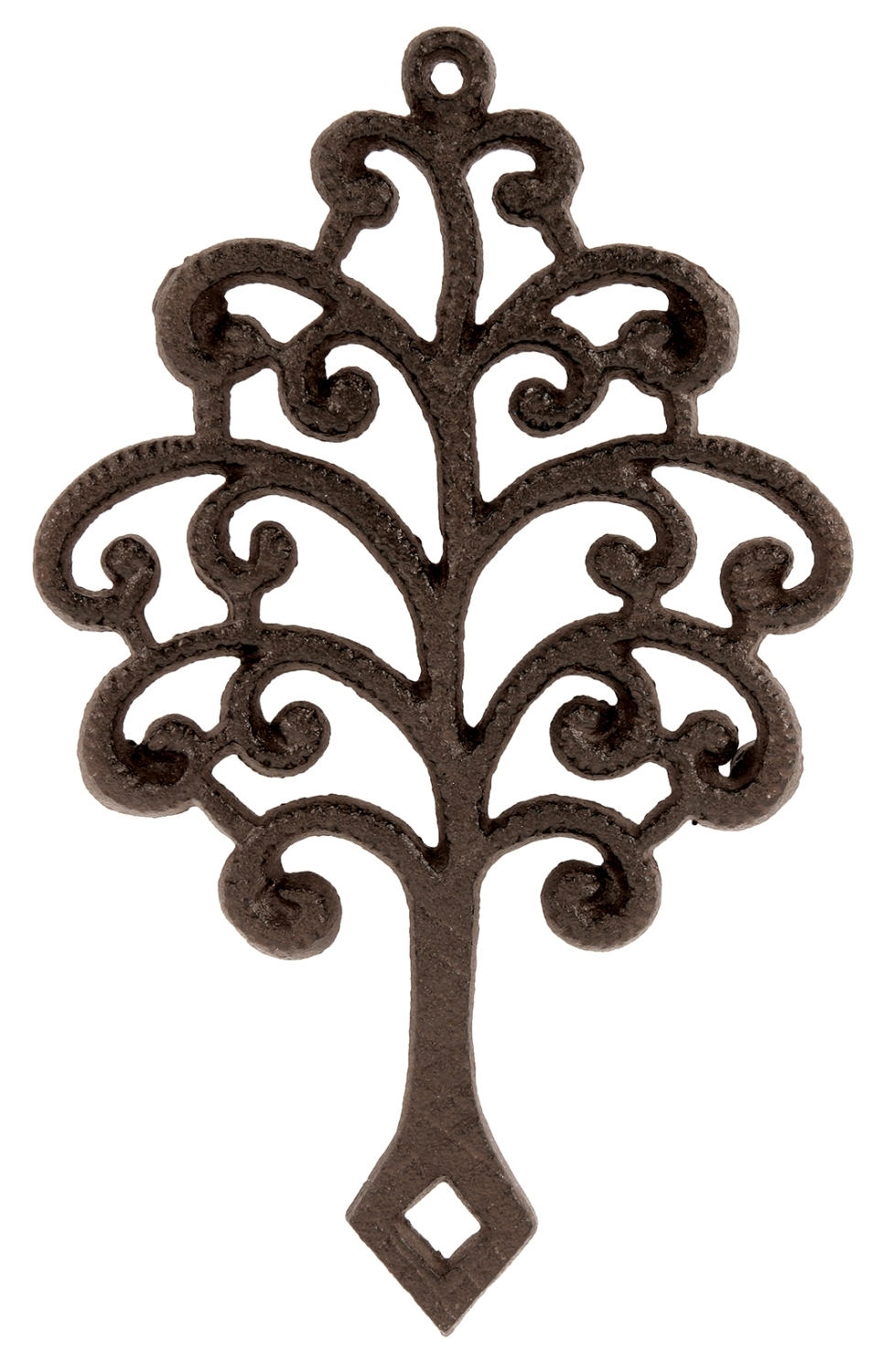 Tree Of Life Shaped Hot Plate Trivet Kitchen Decor Cast Iron 6 Inches