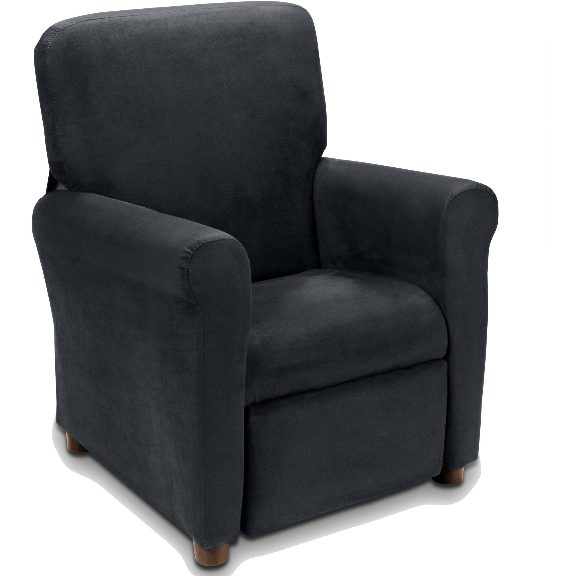 Flash Furniture Kidsu0027 Recliner with Cup Holder Black Leather - Walmart.com  sc 1 st  Walmart : leather chairs recliner - islam-shia.org