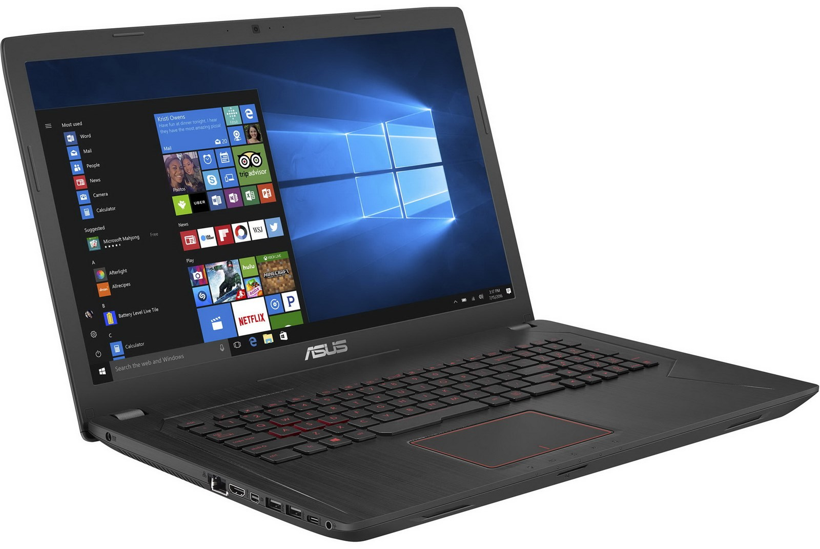 "Asus FX73VE-WH71 17.3"" Full HD GTX 1050Ti 4GB GDDR5 Gaming Laptop by ASUS"