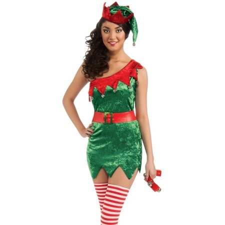 Womens Adult  Santa's Helper Elf Christmas (Santa's Helper Elf Costume)