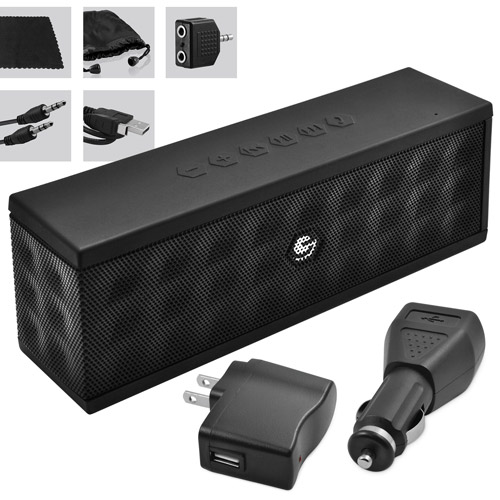 Good Ematic 8 In 1 Accessory Kit With Portable Bluetooth Speaker, Mini USB Cable