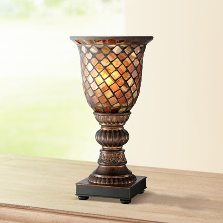 Regency Hill Mosaic Brown Glass 12